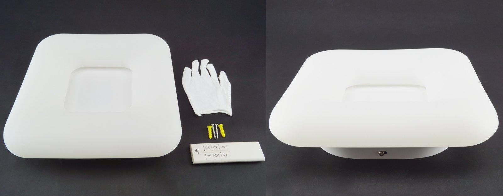 Designer ledes mennyezeti lámpa, szögletes, 30x30 cm