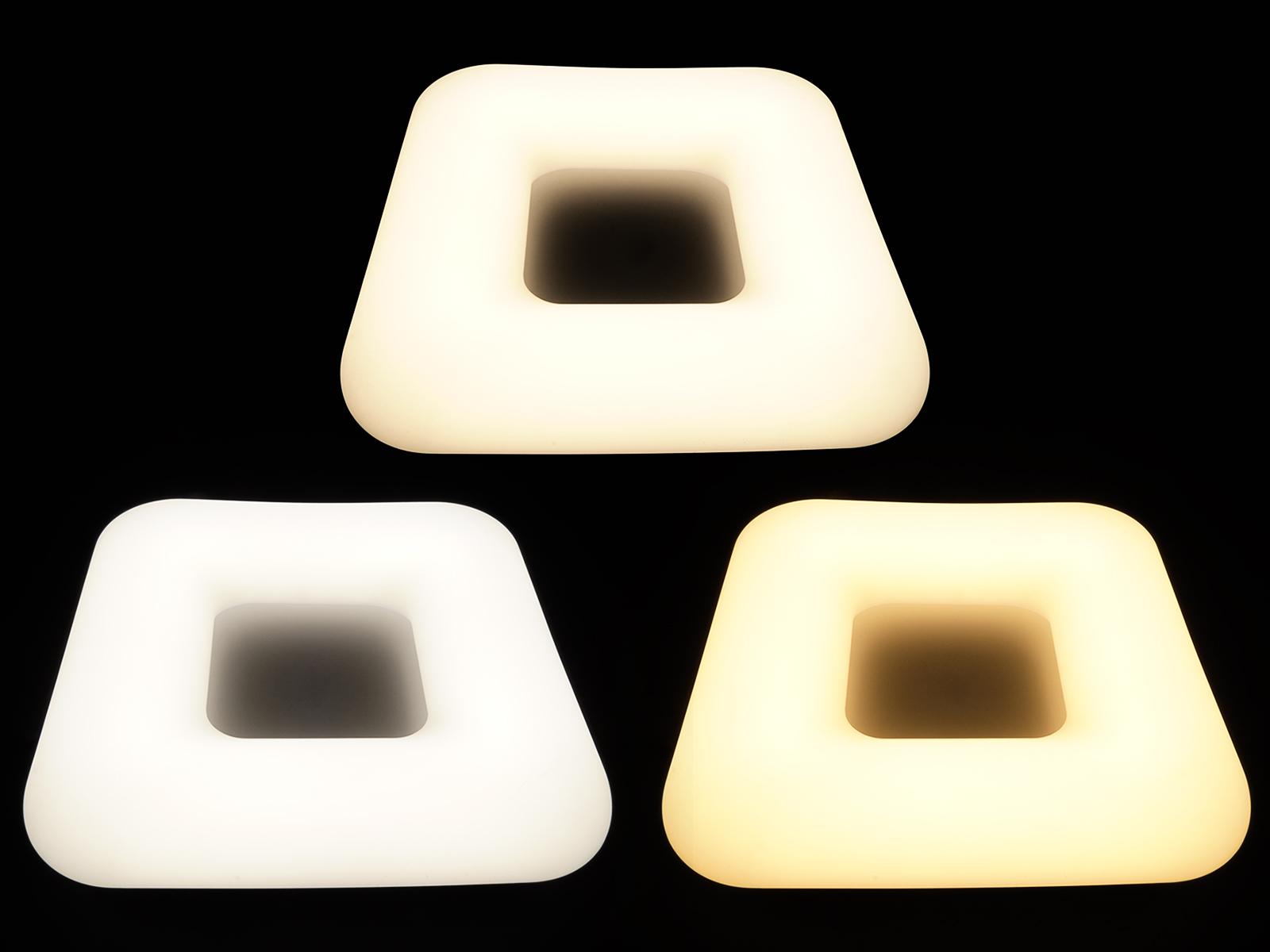 Designer ledes mennyezeti lámpa távirányítóval, állítható színhőmérsékletű