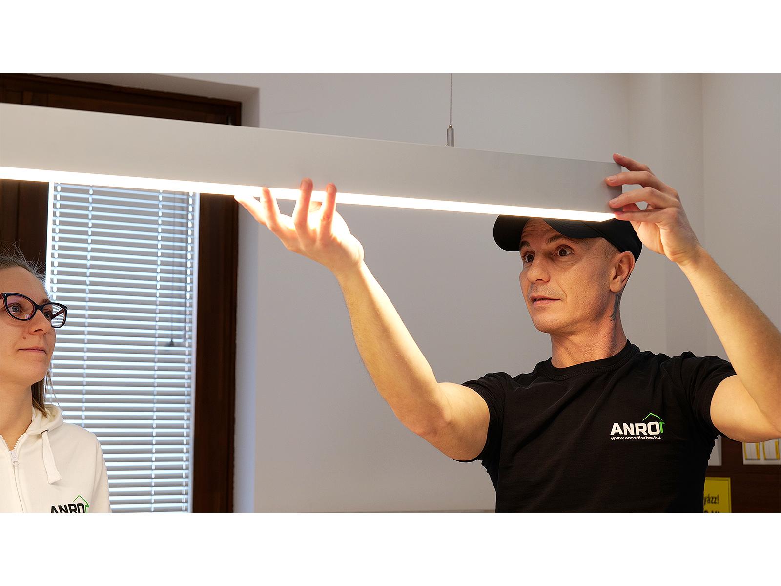 ALP-052 függeszthető LED profil LED szalagos íróasztal világításhoz