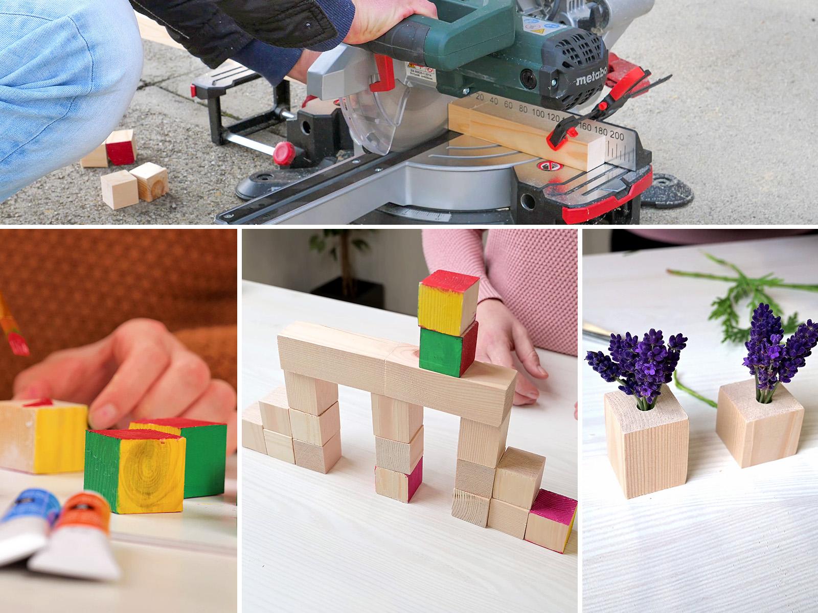 Natúr fa kocka változatos felhasználása