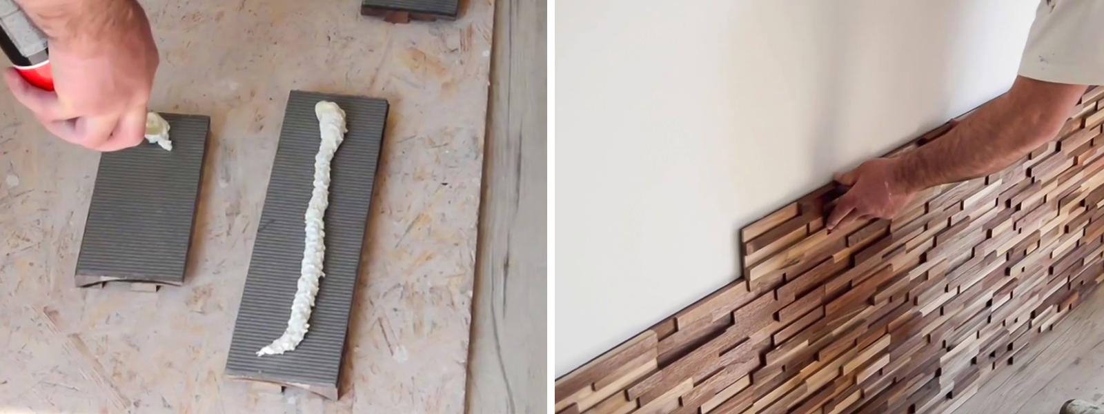 A fa panel ragasztással építhető be.