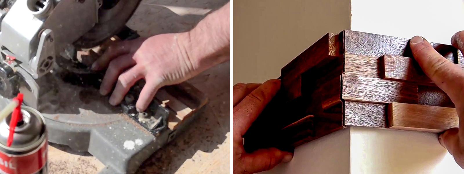 A panel fűrésszel méretre vágható és gérvágással a sarok díszítése is megoldható.