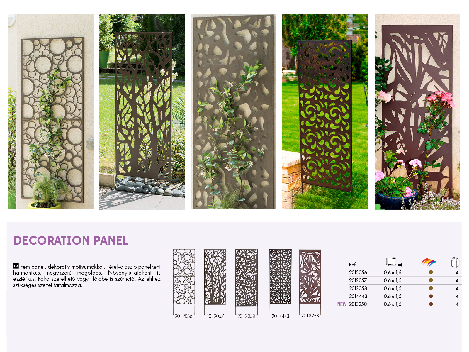 Nortene fém dekorációs panel falra vagy talajba