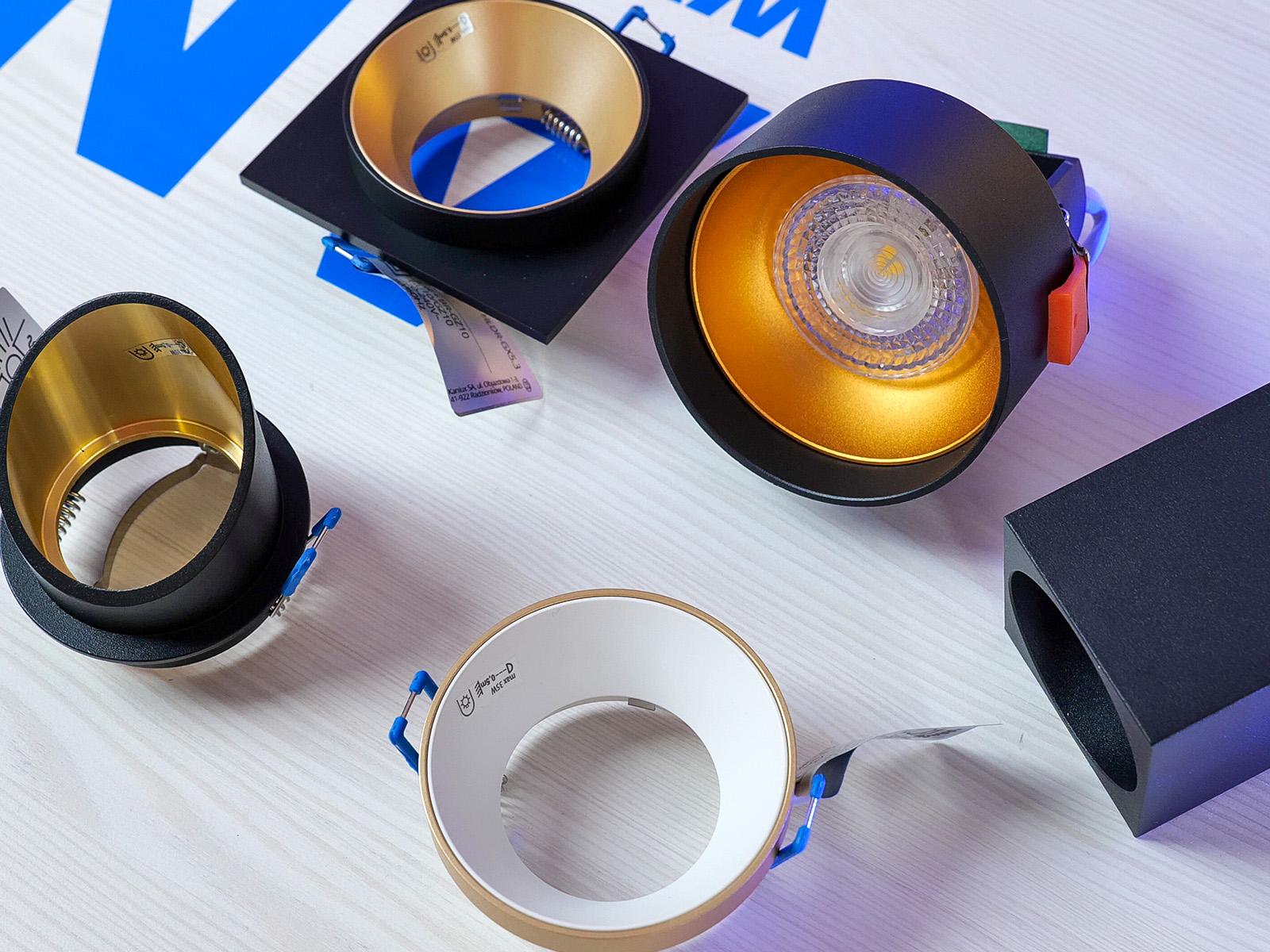 Néhány különleges kialakítású szpotlámpa keret, mely még dekoratívabbá teszi a mennyezeti világítást!