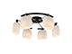 Elmark Cecil fa-króm mennyezeti csillár - (6xE27) - fehér üveg bura