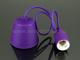 V-TAC E27-es szilikon függőlámpa (minimal lámpatest) - lila