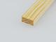 Gyalult fa négyszögléc - fa barkácsléc, skandináv fenyőből (5x10mm)