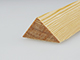 Gyalult fa háromszögléc - fa sarokléc, skandináv fenyőből (30x30mm)