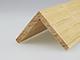Fa élvédő - gyalult fa kalapléc skandináv fenyőből (50x50mm)