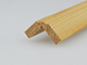 Fa élvédő mart mintával - gyalult fa kalapléc skandináv fenyőből (20x20mm)