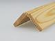 Fa élvédő mart mintával - gyalult fa kalapléc skandináv fenyőből (35x35mm)