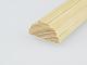 Fa díszléc: 2 oldalán mart, fa díszítőléc, gyalult skandináv fenyőből (10x20mm)