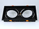 V-TAC AR111 spot lámpatest (dupla), billenthető, fekete