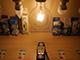 V-TAC LED lámpa E27 Retro filament (4W/300°) G125 - meleg fehér, dimmelhető