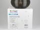 V-TAC Grove üveg burás csillár (E27) - fekete színű bura