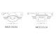 Kanlux Beépíthető gipsz dekorációs keret IMOE DSL50 négyzet, fehér