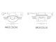 Kanlux Beépíthető gipsz dekorációs keret IMOE DSO50 kör, fehér