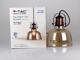 V-TAC Üveg+fém vintage lámpatest (E27) - borostyán színű bura