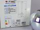 V-TAC Magic függőlámpa (E27) - króm bura 3D tüzijáték hatással