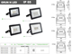 Kanlux GRUN LED reflektor (30W) 4500K - Fekete - IP65