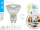 Kanlux LED lámpa GU10 (3.3W/120°) hideg fehér - Oldalra is világító üveg burával!