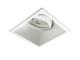 Kanlux IVRI Alumínium deep spot lámpatest (négyzet), billenthető, fehér
