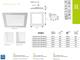 Kanlux Katro LED panel IP44 fehér (172 mm) 12W - természetes fehér
