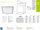 Kanlux Katro LED panel IP44 ezüst (300 mm) 24W - meleg fehér