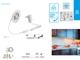 Kanlux LED szett kültéri: érintős kapcsoló+táp 1.5 méter meleg 2835-60