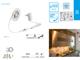 Kanlux LED szett kültéri: közelségérzékelős 1.5 méter meleg f. 2835-60
