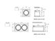 Kanlux MERIL DLP-50 beépíthető spot lámpatest, négyzet, alu, 1xGU10