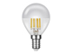 MODEE LED lámpa E14 Filament (4W/360°) Kisgömb - meleg f., SILVER T