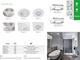 Kanlux QULES AC-L beépíthető spot lámpatest, négyzet, króm