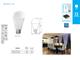 Kanlux LED lámpa E27 (15W/200°) Körte - meleg fehér