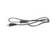EMOS Hálózati csatlakozó, dugvillás kábel (2x0.75 mm2) 3 méter, fekete, Kapcsolós!