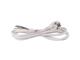 EMOS Hálózati csatlakozó, dugvillás kábel (3x0.75 mm2) 2 méter, fehér, PVC