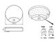 Kanlux SANSO LED lámpa IP44 (15W) - természetes fehér, mozgásérz.