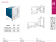 Kanlux Oldalfali lámpatest TAXI LED-SMD (0.6W) term. f., négyzet