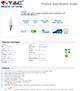 V-TAC LED lámpa E14 (5.5W/200°) PRO - meleg fehér, láng, Samsung
