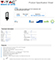 V-TAC Utcai LED lámpa ST (100W/110°) Hideg fehér 12000 lm, Samsung