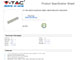 V-TAC Hosszabbító 6-os elosztóval (6 földelt) fehér - 3m vezetékkel