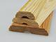 Ajtószegőléc mart díszítéssel, fa szegőléc, gyalult skandináv fenyőből (12x35mm)