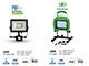 V-TAC Akkus LED reflektor, munkalámpa (20W/120°) 6000K+USB PowerBank