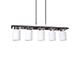 Elmark Alba modern függesztett lámpatest (5xE27) - fa, üveg