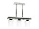 Elmark Alba modern függesztett lámpatest (3xE27) - fa, üveg