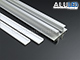 ANRO LED ALP-050 Aluminium oldalfali profil ezüst, két LED szalaghoz, opál burával