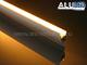 ANRO LED ALP-062 Aluminium oldalfali profil ezüst,  rejtett világításhoz, opál burával