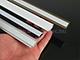 Lumines Type-Z - Süllyeszthető LED szalagos alu profil - fekete - átlátszó burával