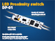 ANRO LED Beépíthető LED vezérlő (DP01) közelségérzékelős kapcsoló