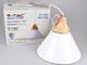 V-TAC Skandi függeszték fa+alu (E27) - fehér burás